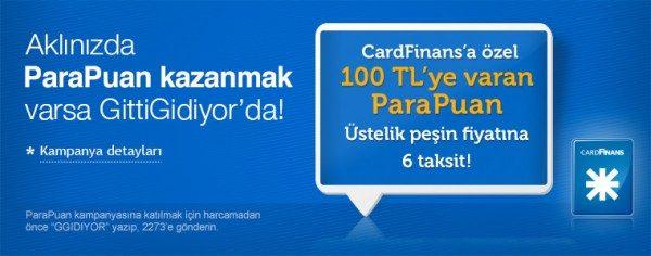100 TL'ye Varan ParaPuan ve 6 Taksit GittiGidiyor'da