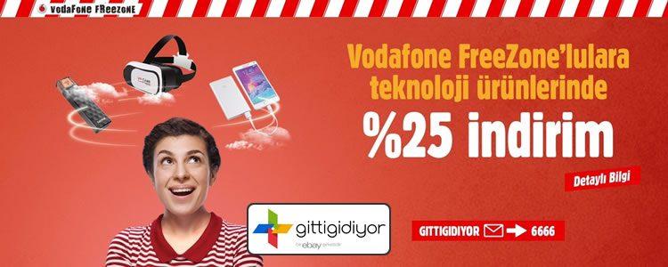 GittiGidiyor İndirim Kuponu Gerekmiyor: Vodafone ile %25 İndirim!