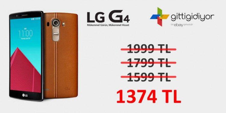 LG G4 Akıllı Telefonda Şok Fiyat!