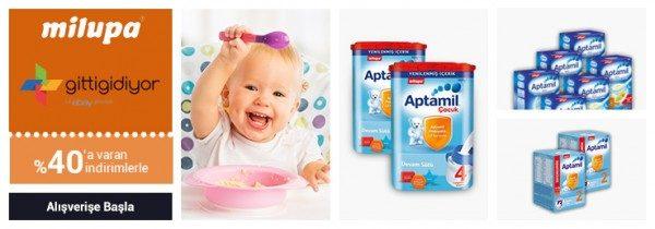 Aptamil Bebek Beslenme Ürünlerinde %40 İndirim