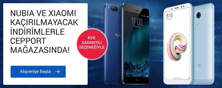 Xiaomi ve ZTE Nubia Telefonlarda KVK Garantili Kaçırılmayacak Fırsatlar
