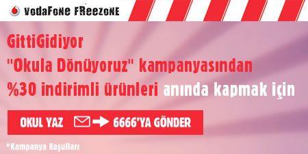 Vodafone Freezone ile %30 GittiGidiyor İndirim Kampanyası