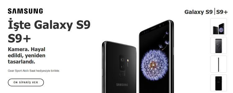 Samsung Galaxy S9 ve S9 + Gear Sport Akıllı Saat Hediyeli!