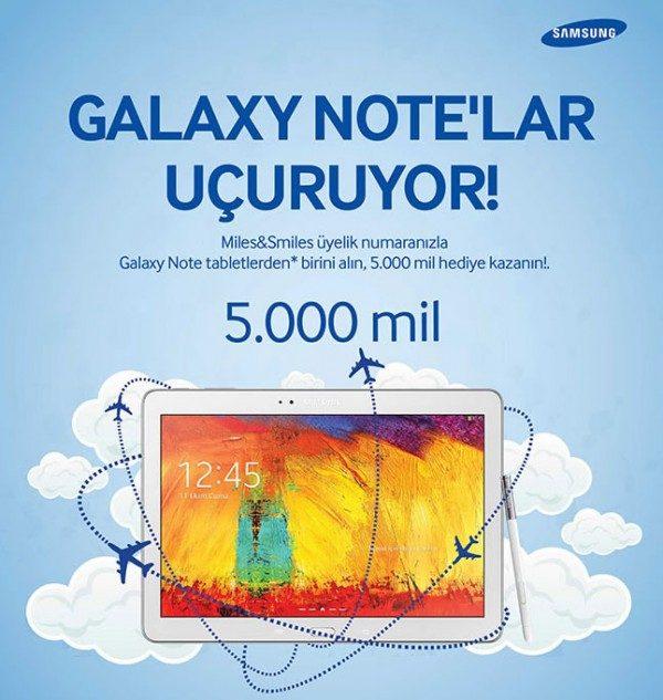 Galaxy Note Tablet Alana 5000 mil Hediye