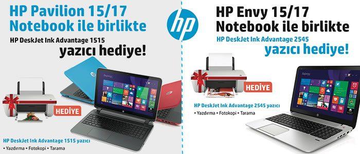 HP Bilgisayar Alana HP Yazıcı Hediye