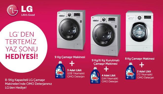 LG Çamaşır Makinesi Alana Deterjan Bedava