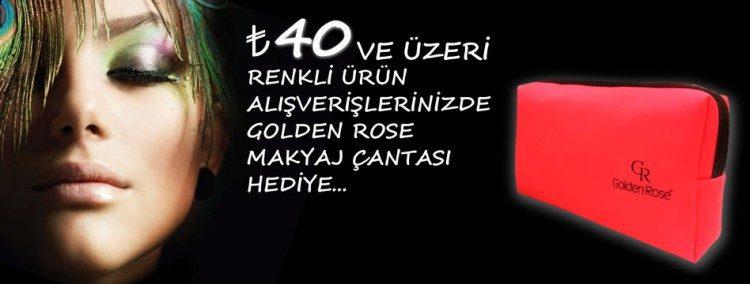 Golden Rose Makyaj Çantası Hediye