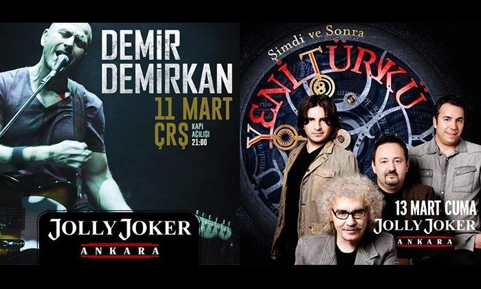 Demir Demirkan ve Yeni Türkü Ankara Konserleri %50 İndirimli