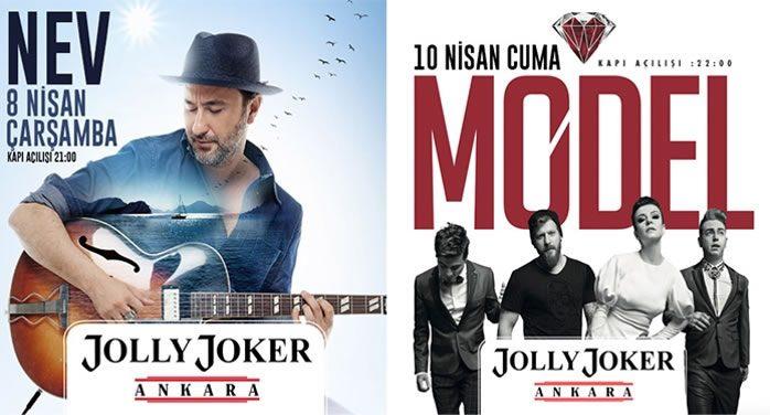 Nev ve Model Ankara Konserleri Jolly Joker'de, %50 İndirimli