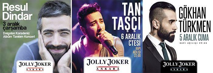 Resul Dinar, Tan Taşçı, Gökhan Türkmen Ankara Konserleri %50 İndirimli