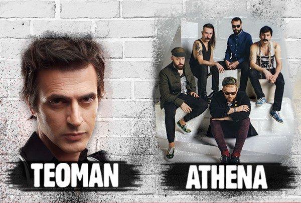 Athena ve Teoman Ankara Konserlerine Biletiniz 22,5 TL