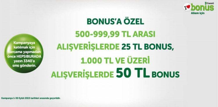 50 TL Bonus Hediye