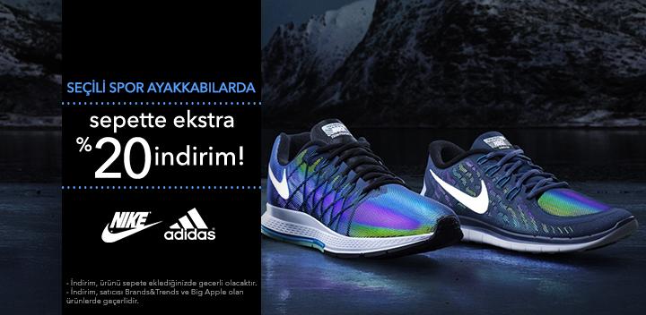 Nike, adidas ve New Balance Ürünlerinde %20 İndirim!