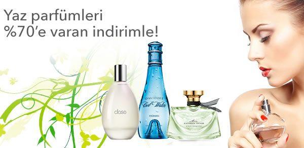 Yaz Parfümlerinde %70'e Varan İndirim