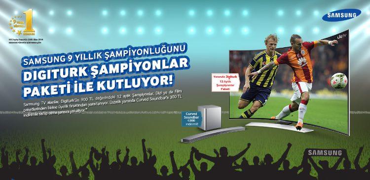Samsung TV Alana 900 TL Değerinde Digiturk Paketi Hediye