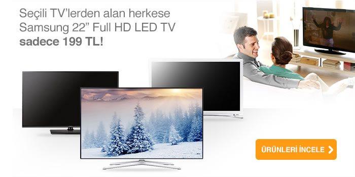 "Samsung 22"" Full HD LED TV Sadece 199 TL!"
