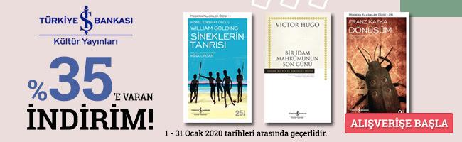 İş Bankası Kültür Yayınları %35 İndirimli
