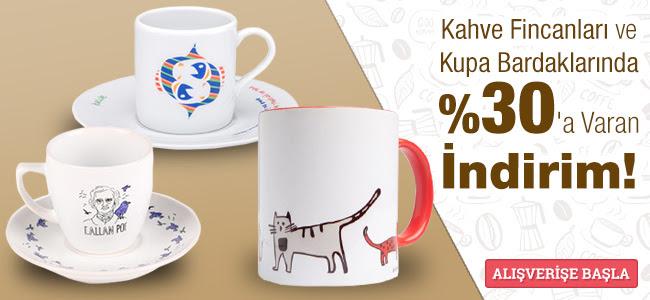 Kahve Fincanları ve Kupalarda %30'a Varan İndirim!