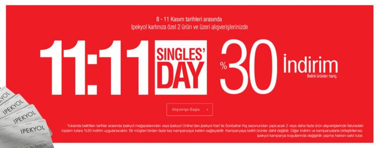 İpekyol'da 11:11 Singles' Day!