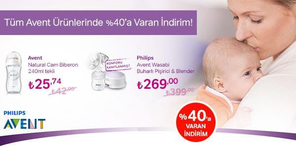 Tüm Philips Avent Ürünlerinde %40'a Varan Joker İndirimi