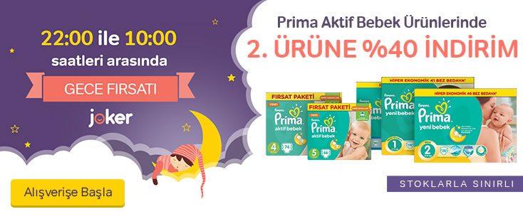 Prima Bebek Bezlerinde Gece Fırsatı!