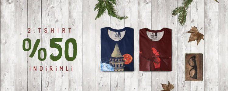 İkinci t-shirt %50 indirimli