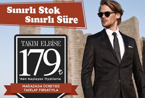 179 TL'ye Kiğılı Takım Elbise