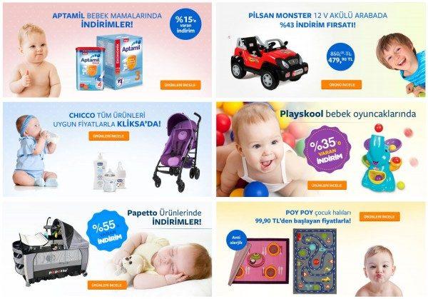 Bebek ve Çocuk Ürünlerinde Çok Özel Kliksa İndirimleri