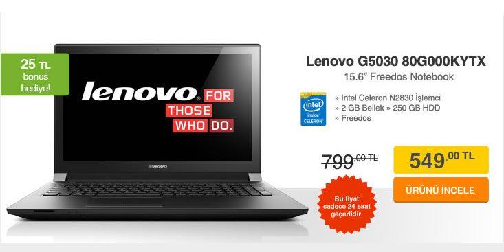 Lenovo Notebook 250 TL İndirimle Sadece 549 TL!