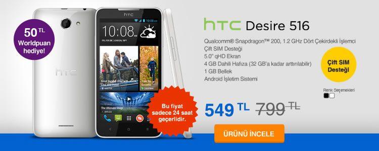 HTC Desire 516 Çift Sim Destekli Akıllı Telefon 549 TL
