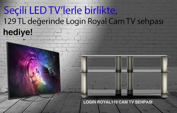 LED TV Alana Cam TV Sehpası Hediye