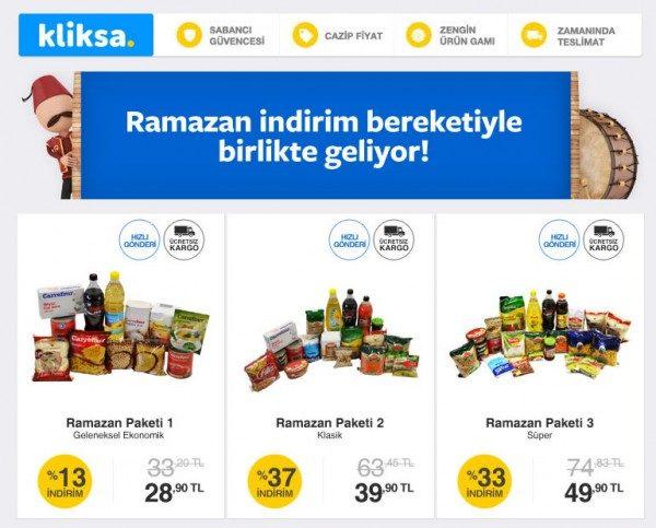 Her Bütçeye Uygun Ramazan Paketleri Kliksa'da
