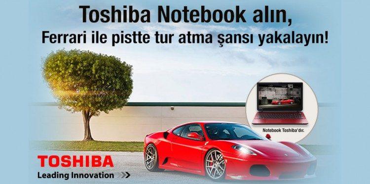 Toshiba Notebook Alanlar Ferrari F430 ile Tur Atıyor