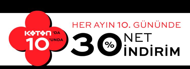 Koton'da %30 Net İndirim!