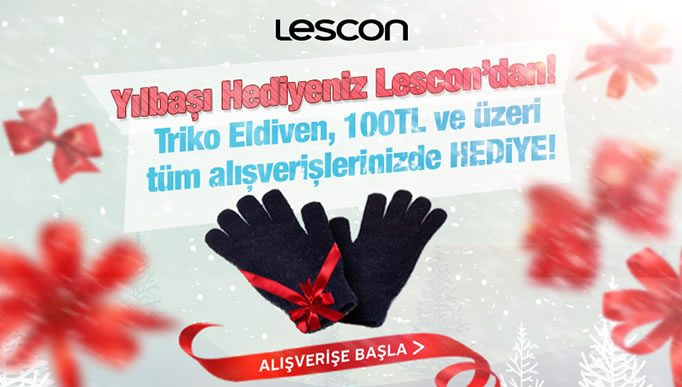 Triko Eldiven Lescon'dan Hediye