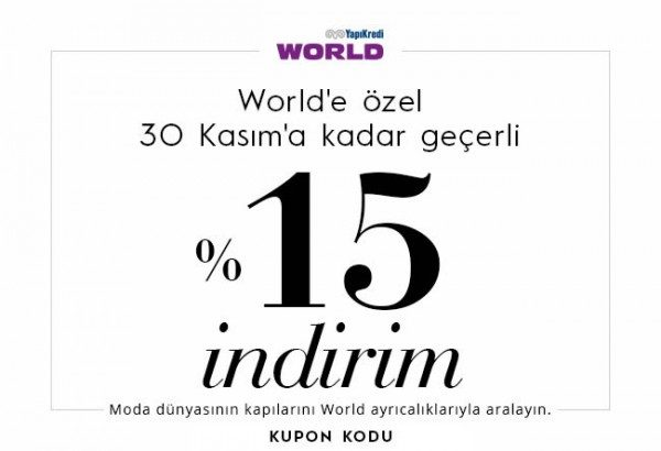 Lidyana İndirim Kuponu ile World'e Özel %15 İndirim