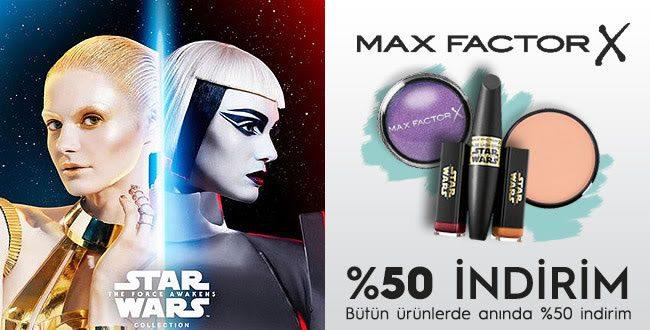 Max Factor Ürünlerinde Net %50 İndirim