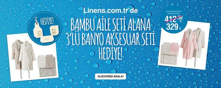 Linens Banyo Aksesuar Seti Hediye!