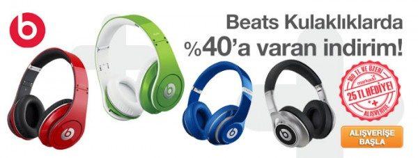 Beats Kulaklıklarda %40 Markado İndirimi