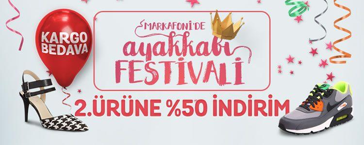 Markafoni Ayakkabı Festivali: 2. Ürüne %50 Ekstra İndirim!