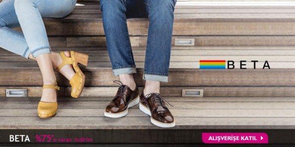 Beta Ayakkabı'da %75 Markafoni İndirimi