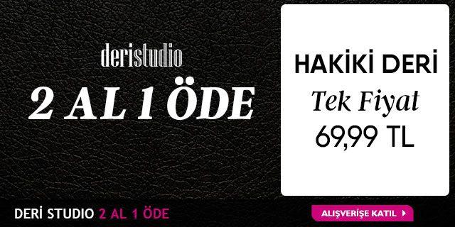 Deri Studio Ayakkabılarda 69 TL Tek Fiyat ve 2 Al 1 Öde!