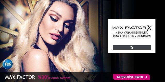 Max Factor İndirim Kampanyası %30 + %50 Kazandırıyor