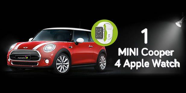 Markafoni Çekilişi 1 MINI Cooper, 4 Apple Watch Sport Kazandırıyor