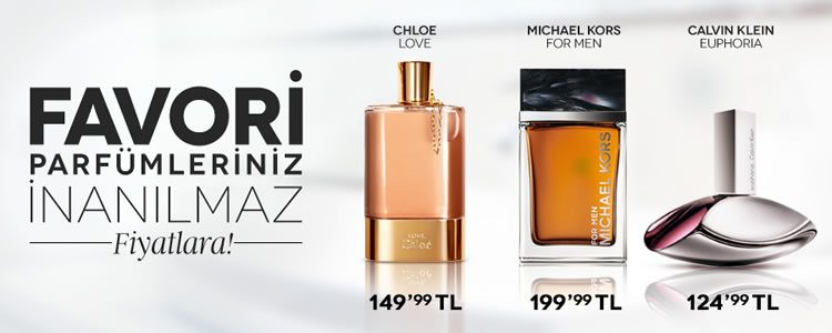 Favori Parfümleriniz İnanılmaz Fiyatlarla