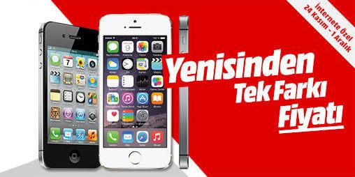 999 TL'ye Apple iPhone 5 Media Markt'ta