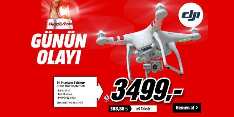 Günün Olayı: DJI Phantom 2 Vision+ Set 3499 tl