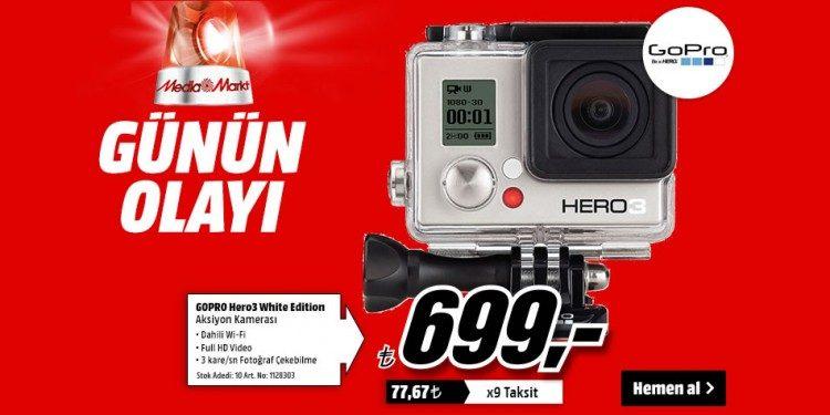 GoPro Hero3 White Edition Aksiyon Kamera Sadece 699 TL