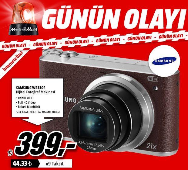 Samsung WB350F Fotoğraf Makinesi Sadece Bugün 399 TL
