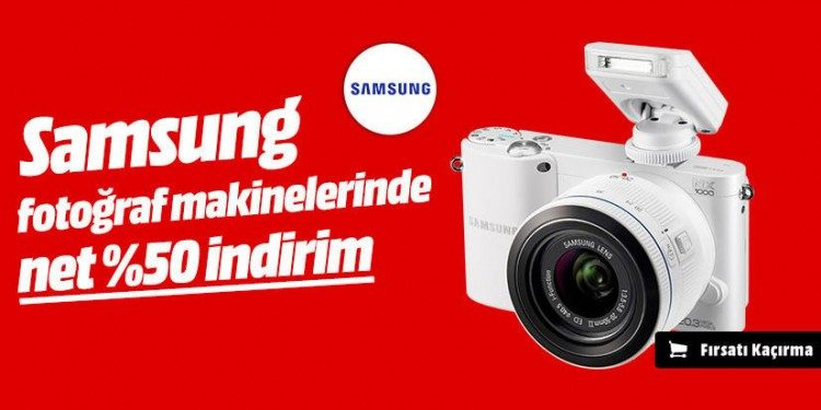Samsung Fotoğraf Makinelerinde Net %50 İndirim